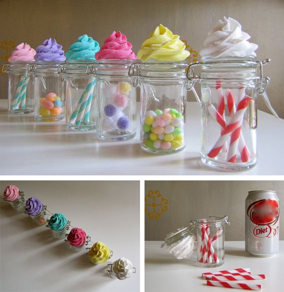 Cupcake Decorating Ideas With Candy : Cupcake Jar colorful food candy color cupcake cupcakes jar ...