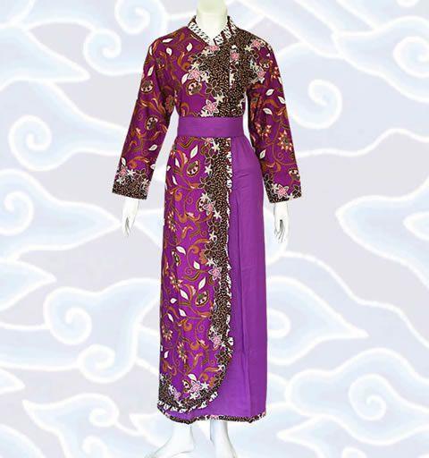 Baju Gamis Batik Modern model kombinasi
