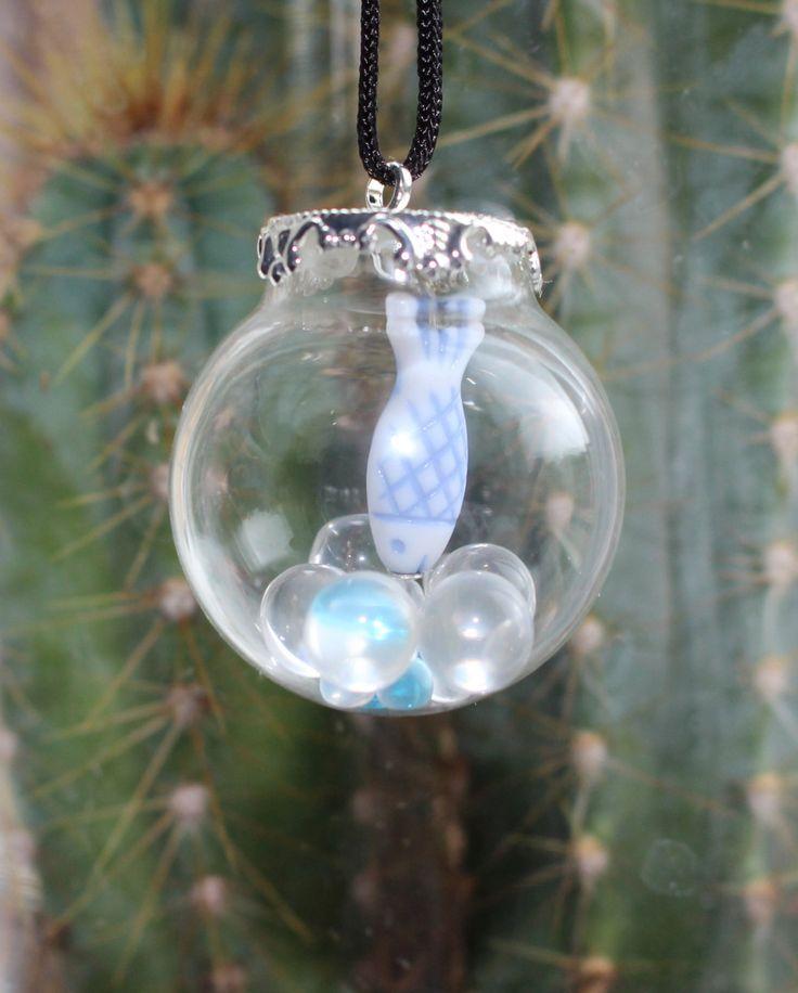 Mermaids Dream Bubble Fish Charm (9.00 GBP) by SukiSueAdornments http://ift.tt/1l1YI6i