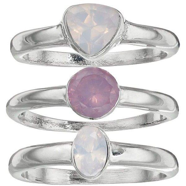 Jennifer Lopez Geometric Ring Set, Women's, Purple ($14) ❤ liked on Polyvore featuring jewelry, rings, purple, jennifer lopez ring, geometric jewelry, imitation jewelry, imitation jewellery and fake jewelry