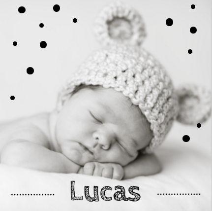 Geboortekaartje inspiratie | Maak zelf dit kaartje met de foto van jouw kindje…