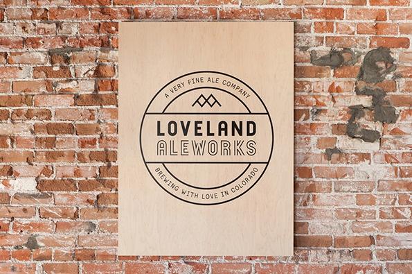 Loveland Aleworks - Plywood poster #design #identity #branding