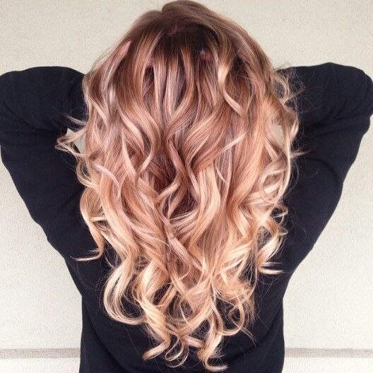 Strawberry blonde ombre: