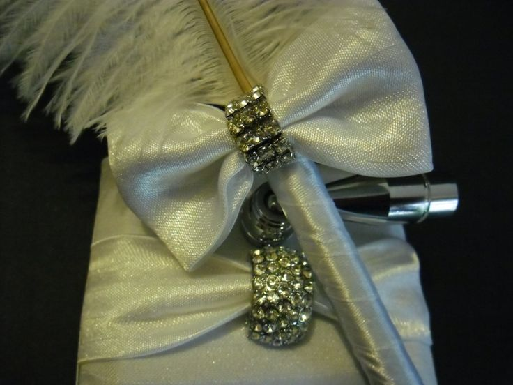 Quill (Feather Pen) with Diamante Clasp