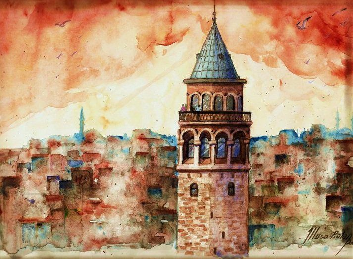 Paintings by Turkish Watercolor Artist Musa Balan