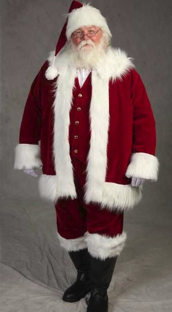 Image Detail for - Deluxe Traditional Santa suit :: Santa Suits :: planetsanta.com I like the vest idea
