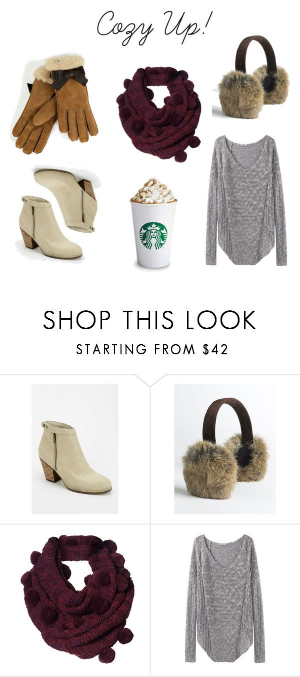 """""""Coz Up"""" by sparkleonandwearbows ❤ liked on Polyvore featuring Deena & Ozzy, Surell, Helmut by Helmut Lang and UGG Australia"""