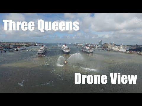 HPIGUY | Drones View - Cunard's Three Queens 175th anniversary celebrati...