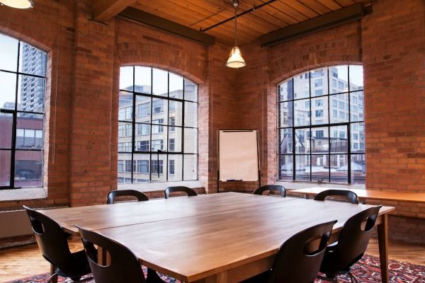 Exposed Brick meeting room at Richmond and Spadina. In the Queen West neighbourhood.