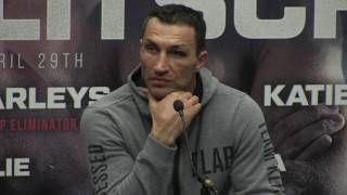 WLADIMIR KLITSCHKO REACTS TO ANTHONY JOSHUA ROUND 11 TKO DEFEAT  {POST FIGHT PRESS CONFERENCE}