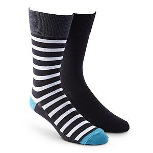 These men's casual solid/rugby socks from Denver Hayes are available in a convenient two-pack. The machine-washable socks feature FreshTech® antimicrobial technology