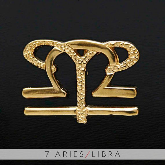 7 Aries and Libra Gold Unity Pendant by UnityDesignConcepts, $99.99