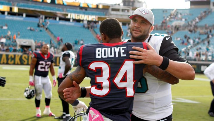 Former teammates, Blake Bortles and A.J. Bouye, together again.