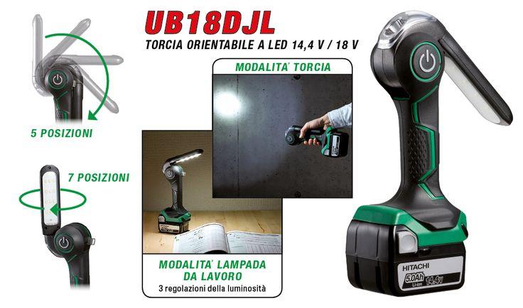 Nuova torcia cordless Hitachi UB18DJL! Incredibilmente versatile e pratica per ogni occasione!