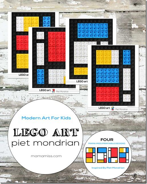 Piet Mondrian LEGO art