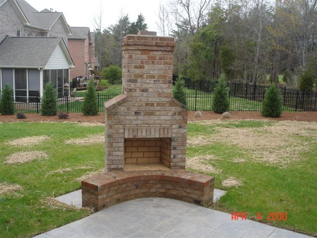 outdoor fireplace brick on pinterest backyard fireplace outdoor