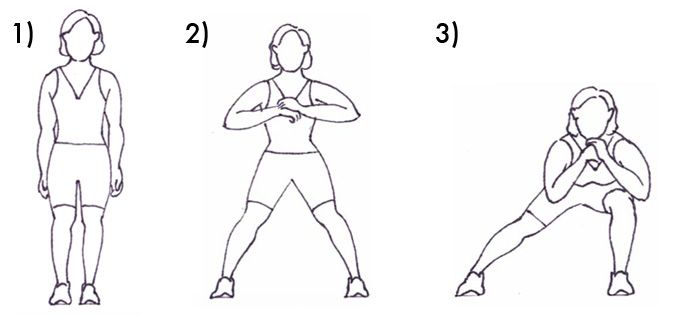 Side Leg Lunges images