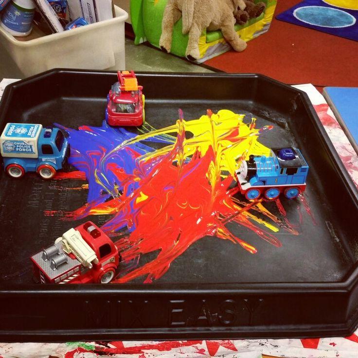 Colour mixing tuff spot activity