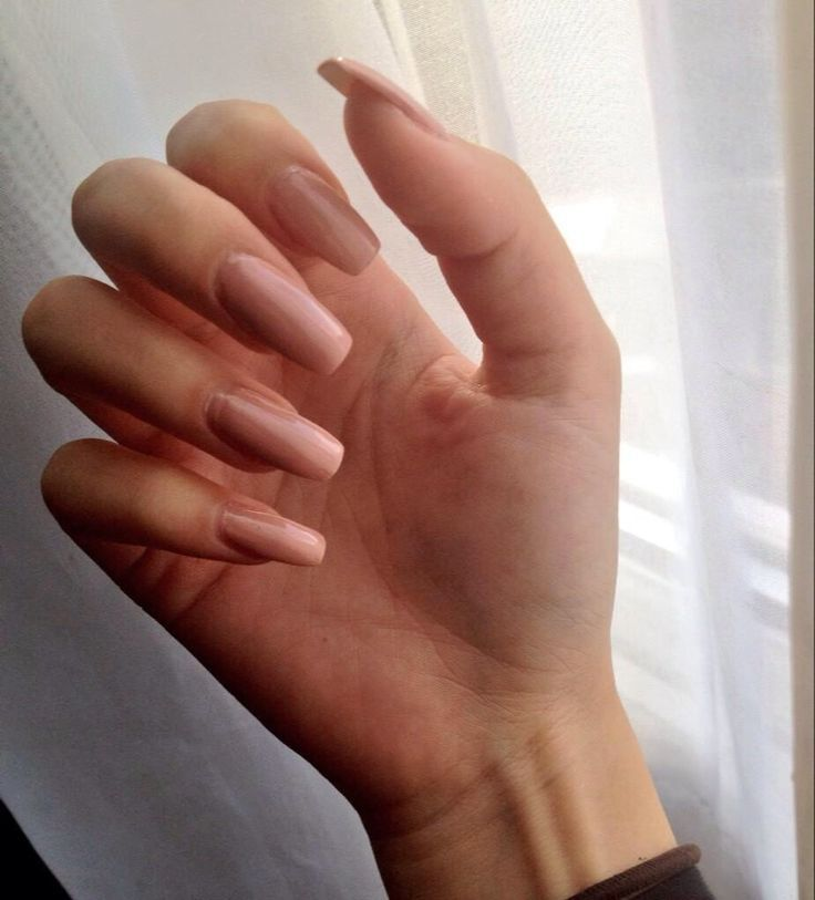 faux ongles rose pale