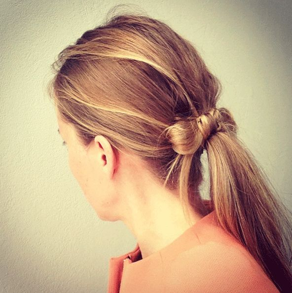 The ponytail bow | 25 Ways To Up Your Ponytail Game