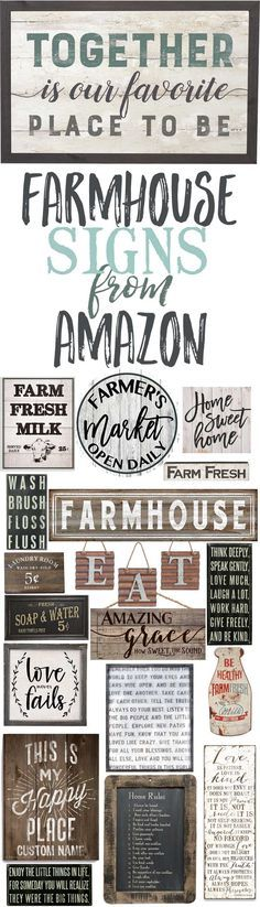 Farmhouse Indicators From Amazon-Farmhouse Signal Concepts-The place to purchase farmhouse indicators…