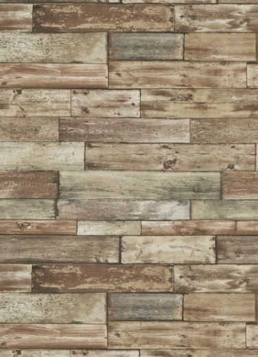 Wood panels look stunning in a city apartment. Bring a bit of rural charm to your urban setting at wallscaping.net #wallpaper #wallscaping
