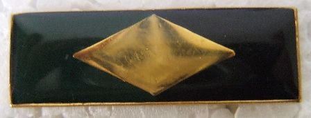 SWATF Infantry beret bar - Green/Black colour with a with Golden metallic diamond in the centre - enamel metal