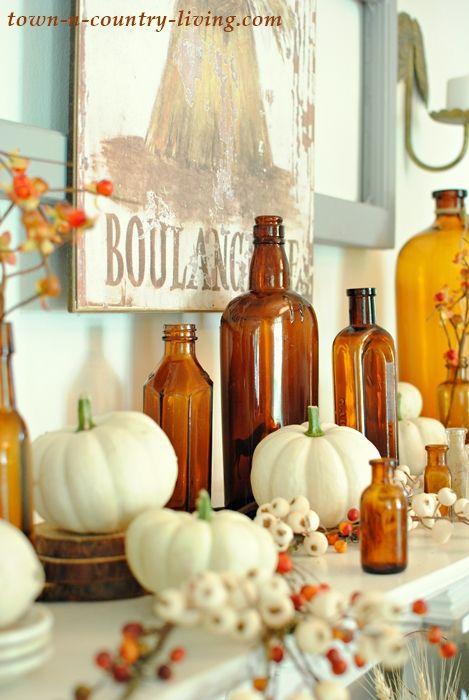 Fall-Mantel-Brown-Bottles-4.jpg 469×700 pixels
