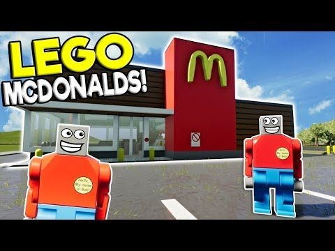 Getting A Job At Lego Mcdonalds Brick Rigs Roleplay Gameplay