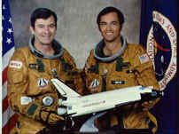STS-1 Shuttle Crew Photo of John W. Young and Robert L. Crippen