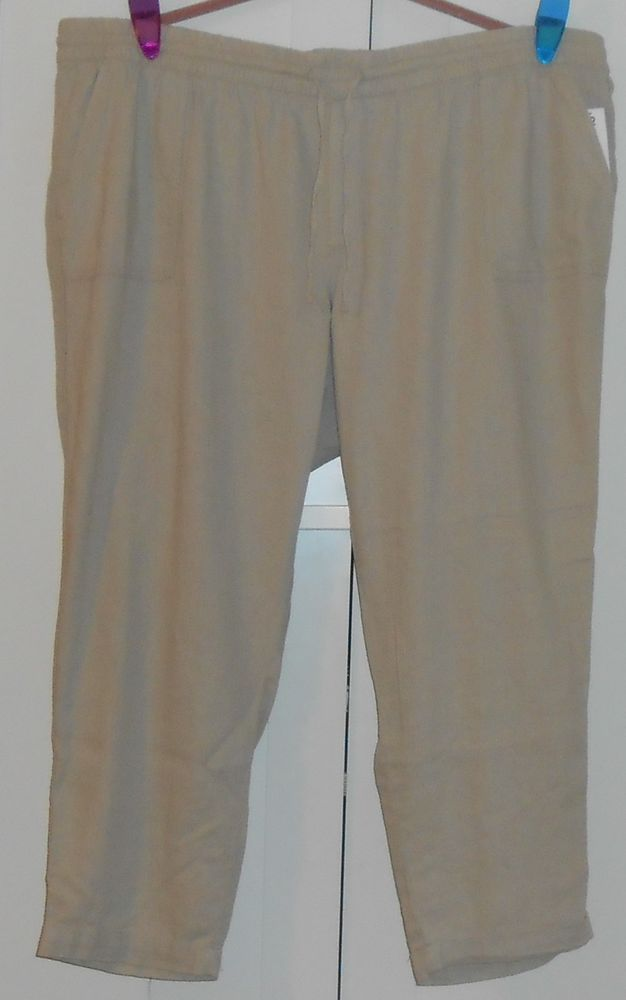 Old navy mid rise linen blend cropped pants