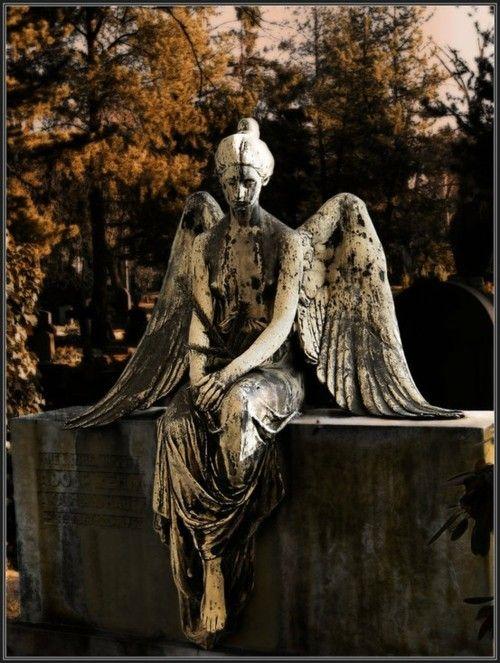 Autumn graveyard angel