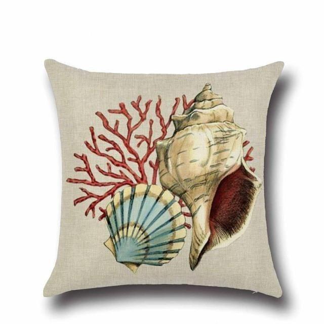 Mermaid and Ocean Print Pillow Cover (24 Styles)