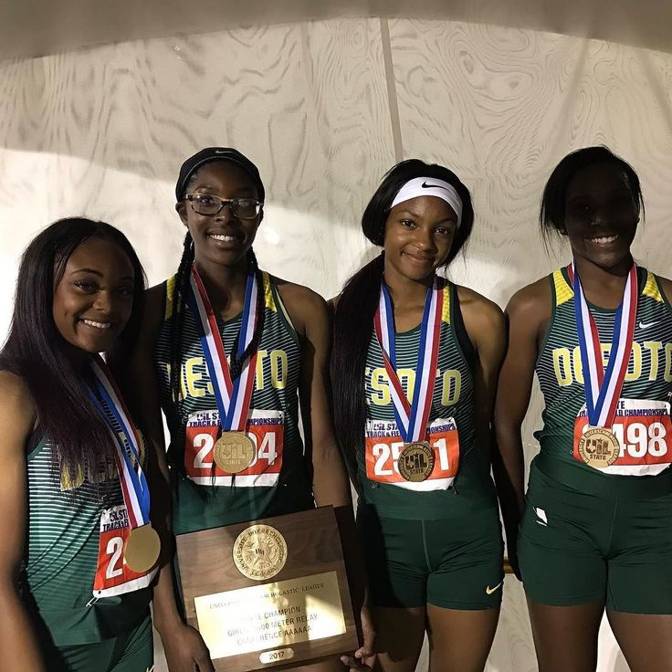 DeSoto girls throwdown a 3:37 4x4 to win the 6A State Title in Texas . . . . . #milesplit #desoto #texasmilesplit #running #track #tracknation #speed #fast #champions #gold #relay @4x400m #uil #uilstate #uiltfstate
