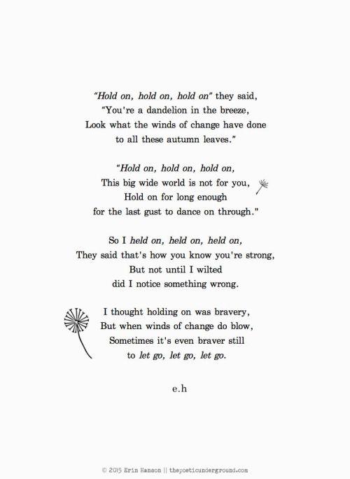 Let Go. thepoeticunderground.com #poem #poetry