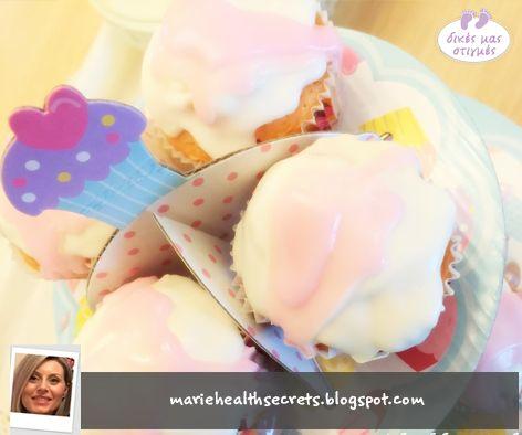 Συνταγή για πεντανόστιμα και αφράτα cupcakes από την Μαρία!   http://www.babyzone.gr/item/cupcakes-it-s-a-girl   Μια πρωτότυπη ιδέα είναι να τα δωρίσετε στο μαιευτήριο, όταν έρθει ο πελαργός!