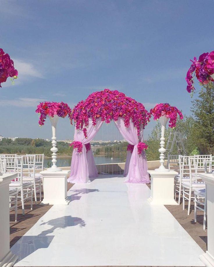wedding ceremony , floral, design, pink
