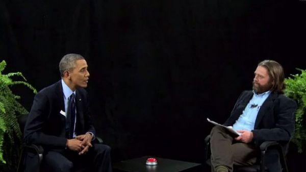 Between Two Ferns Barack Obama views vs Justin Bieber