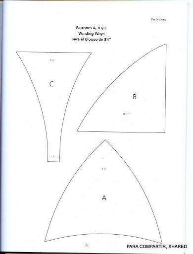 Winding Ways Quilt Template Patterns Patterns Kid