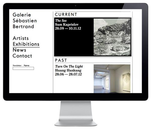Logo and website designed by Neo Neo for Sébastien Bertrand contemporary art gallery.