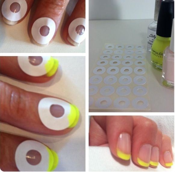 French do it yourself pedicure - perhaps not the neon yellow, but looks super easy!
