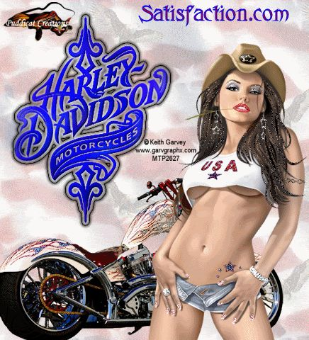 Ride that Harley like you ride a man. Hard and fast...