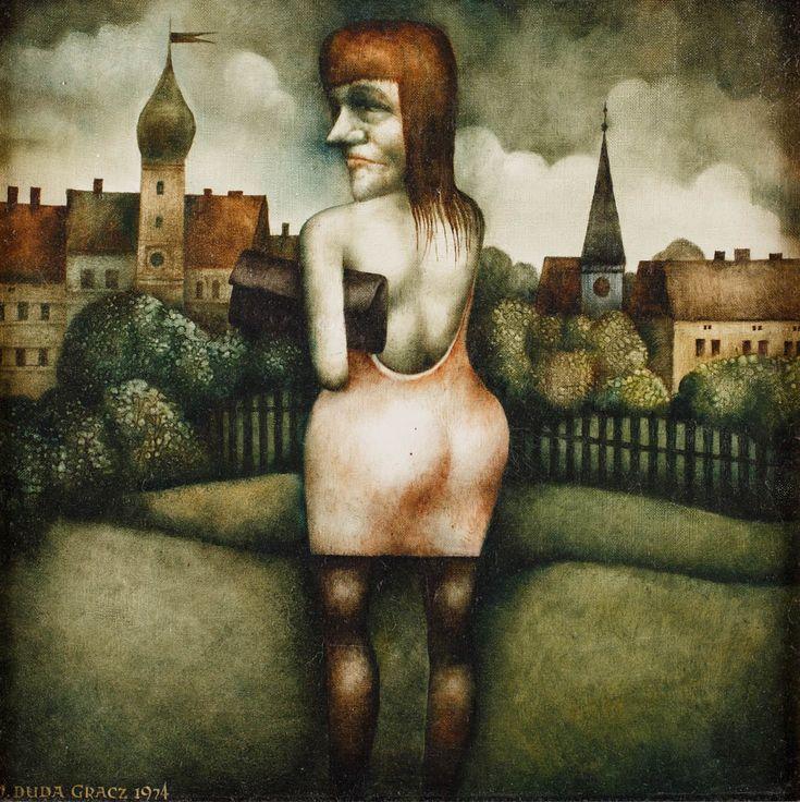 JERZY DUDA-GRACZ (1941 - 2004)  POLNISCHES.., 1974   olej, płótno / 39.5 x 39.5 cm