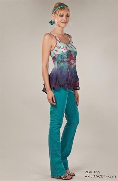 Купить джинсы цвета морской воды