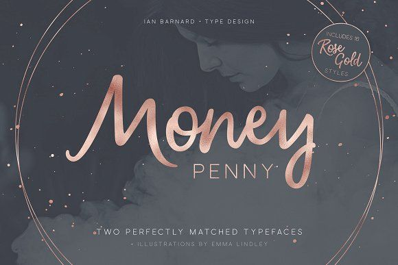 Money Penny - Script & Sans by Ian Barnard on @creativemarket