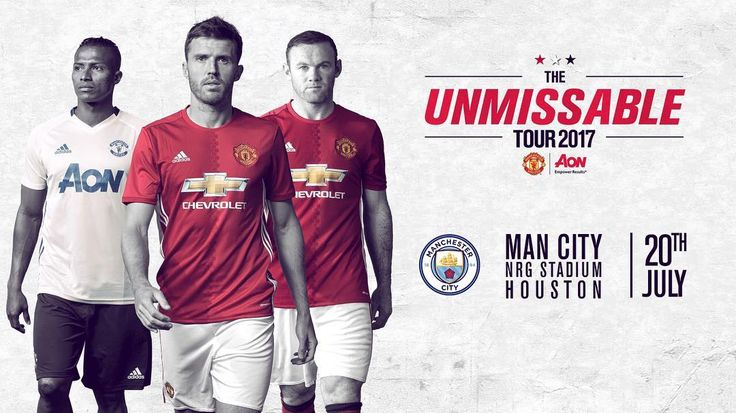 Tickets for the Manchester derby in Houston this summer are now on general sale. Visit www.ManUtd.com/Tour2017 for more details.