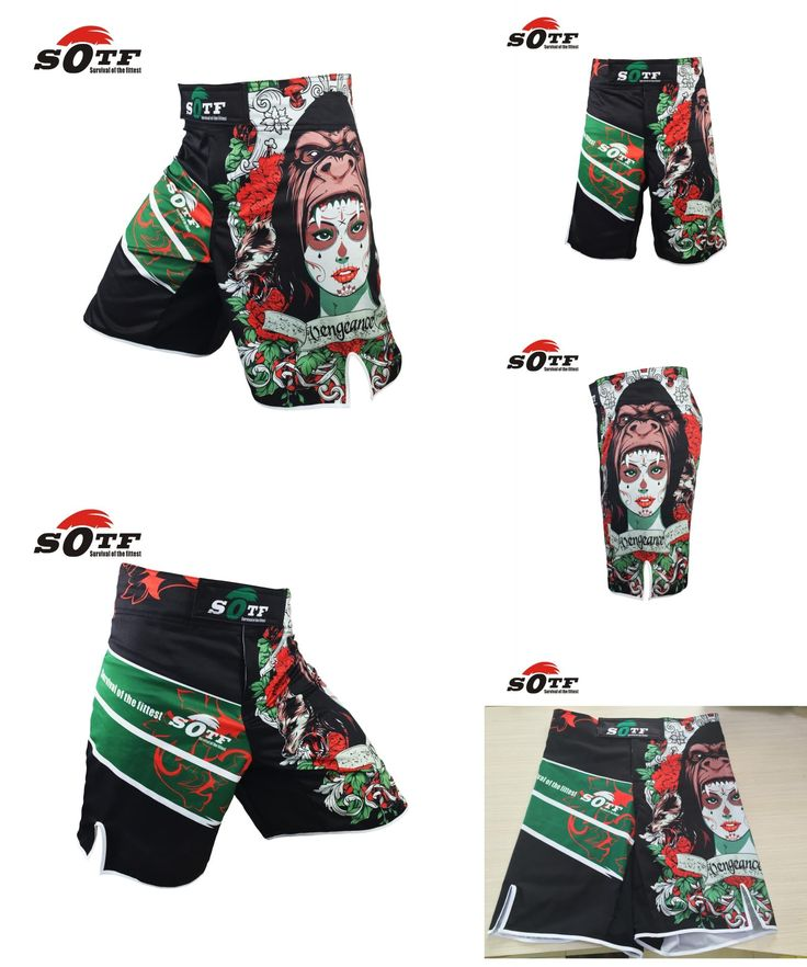 [Visit to Buy] SOTF mma boxing muay thai kick pretorian shorts mma crossfit shorts kick boxing shorts cheap mma shorts brock lesnar kickboxing #Advertisement