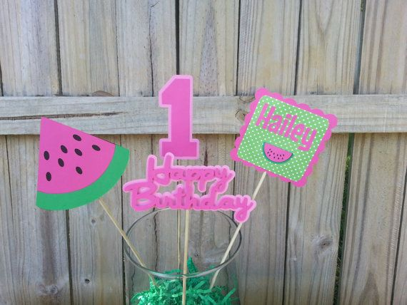 Watermelon Centerpiece on Etsy, $10.00
