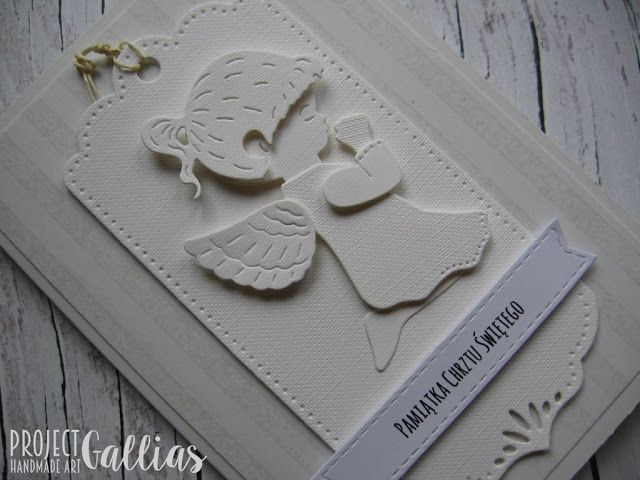 ProjectGallias: kartka pamiątka chrztu świętego - a card on the occasion of baptism: kartka, chrzest, #projectgallias, card, baptism, white