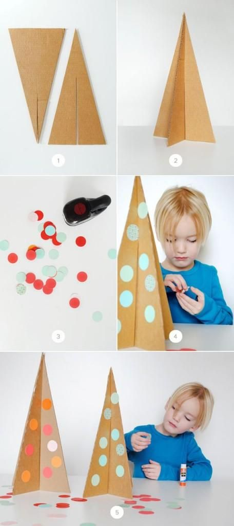Árbol de Navidad DIY para hacer con niños #small&lowcost | Decorar tu casa es facilisimo.com